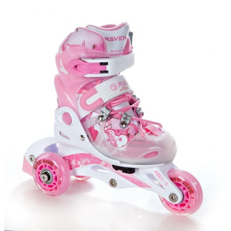Roller Princess taille ajustable RAVEN White