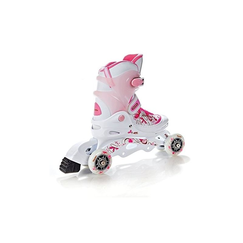 Roller transformable et ajustable Laguna Raven blanc/rose
