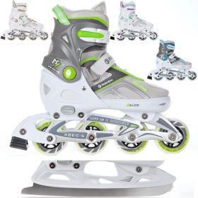 Roller Pulse taille ajustable RAVEN White