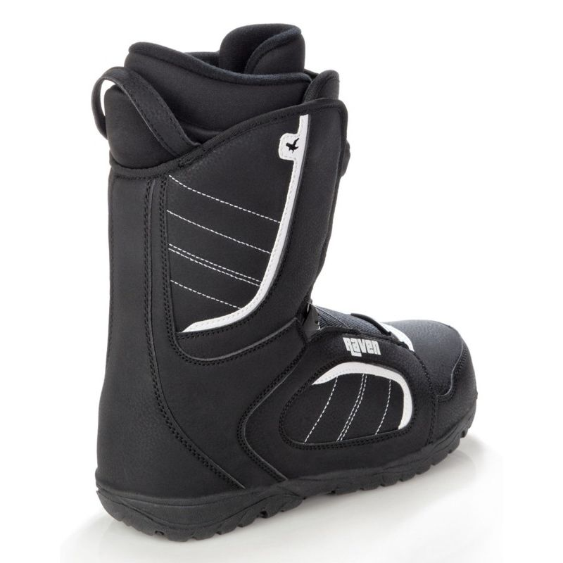 Boots Target Atop RAVEN snowboard