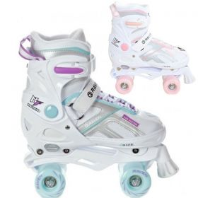 Roller Quad Pulse White taille ajustable RAVEN