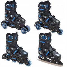Roller transformable et ajustable Singer Croxer avec patin a glace