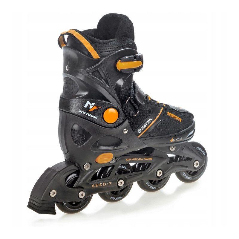 Roller Pulse noir orange taille modifiable RAVEN