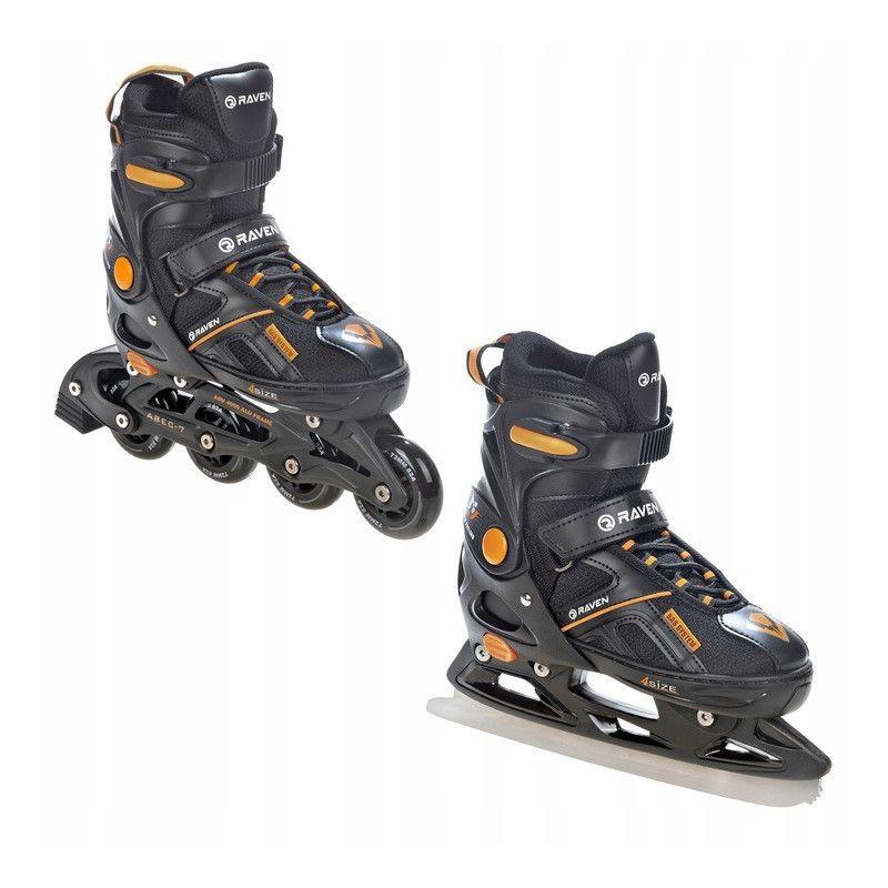 Roller Pulse noir orange taille modifiable RAVEN patin a glace