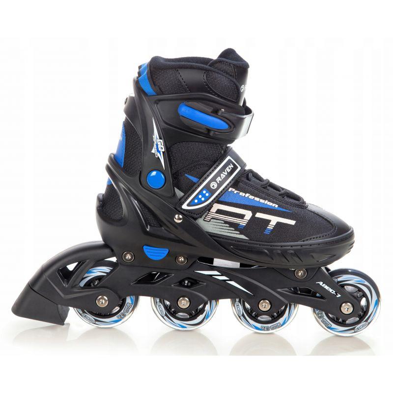 Roller Profession taille ajustable RAVEN noir et bleu