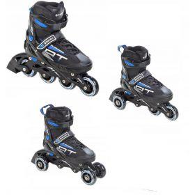 Roller Profession taille ajustable RAVEN noir et bleu 3en1