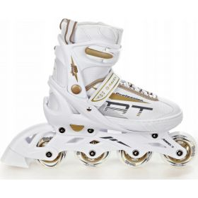 Roller en ligne 3en1 patin a roulettes Profession taille ajustable RAVEN blanc/or