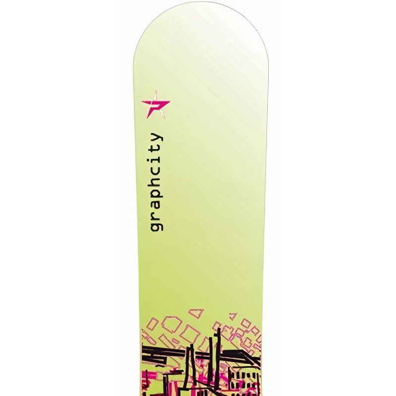 Graphcity Green PALE snowboard