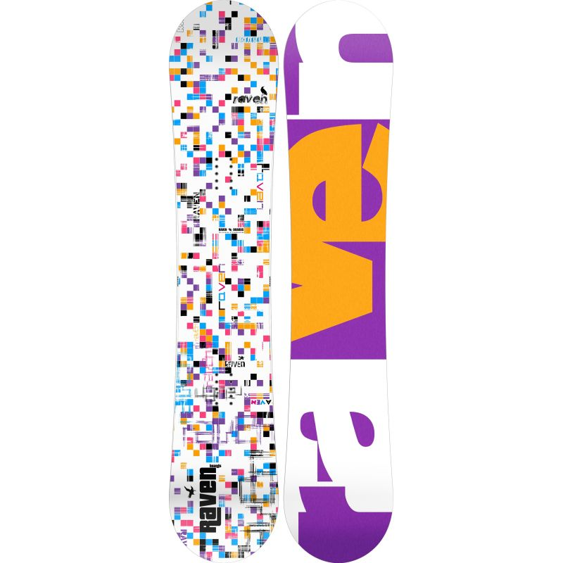 Grid white RAVEN snowboard