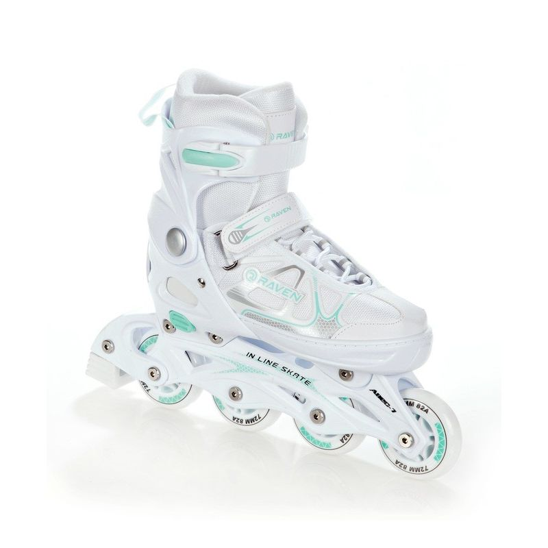 Roller patin a roulettes 3en1 Spirit taille ajustable et modulable RAVEN blanc menthe