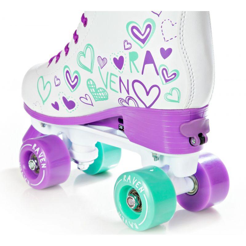 Patin à roulette Trista taille modulable RAVEN Violet/Menthe
