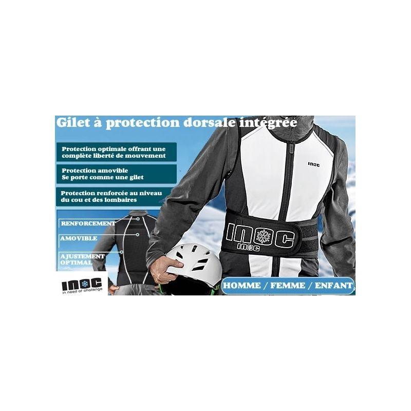 Gilet protection Dorsale INOC Ski Snowboard
