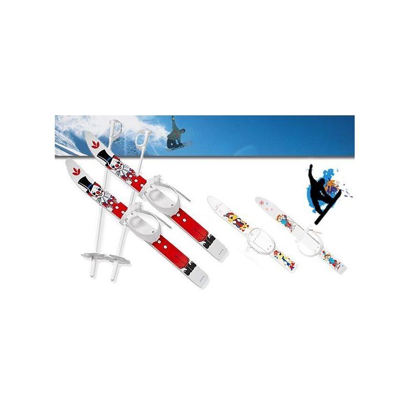 Mini Ski Enfant avec Fixation et Bâtons