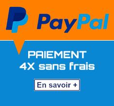 Paiement Paypal 4X sans frais